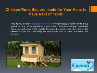 Chicken Runs that are Made for Your Hens to Have a Bit of Frolic