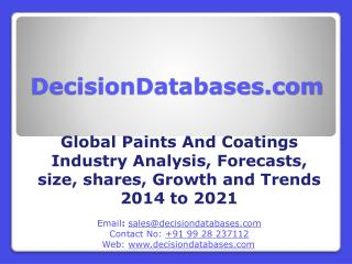 Global Paints And Coatings Market Manufactures and Key Statistics Analysis 2014-2021