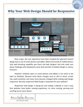Why Your Web Design Should be Responsive