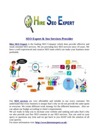 SEO Expert & Seo Services Provider