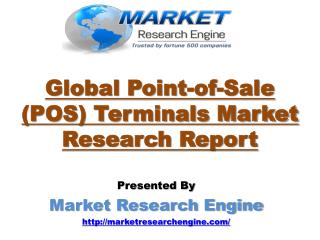 Global Point-of-Sale (POS) Terminals Market will grow at CAGR of 14% during the period of 2015-2022