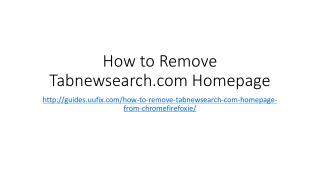 How to remove tabnewsearch.com homepage