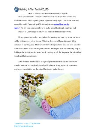 How to Remove the Smell of Microfiber Towels