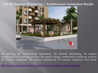 Get 3D Exterior Rendering | Architectural Animation Studio