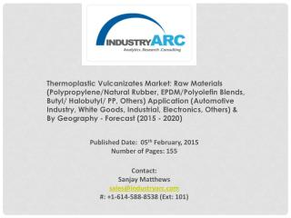 Thermoplastic Vulcanizates Market |IndustryARC.