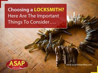 Guide for Choosing the Right Car Locksmith