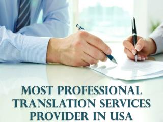 Most Professional Translation Services provider in USA