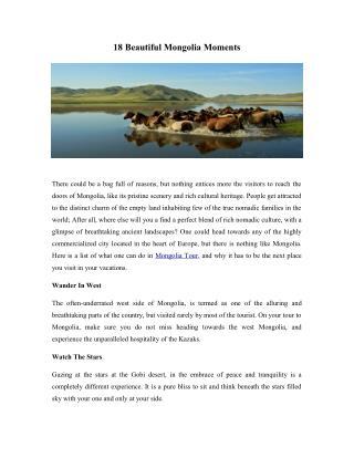 18 Beautiful Mongolia Moments