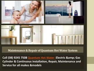 Maintenance & Repair of Quantum Hot Water System