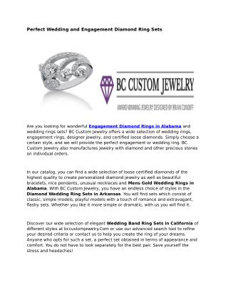 Engagement Diamond Rings Alabama