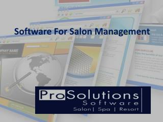 Software For Salon Management