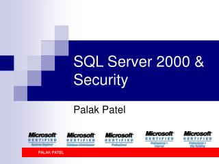 SQL Server 2000  Security