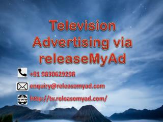 Now you can book your TV advertisements online through releaseMyAd
