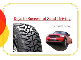 Keys to successful Sand Driving in Australia