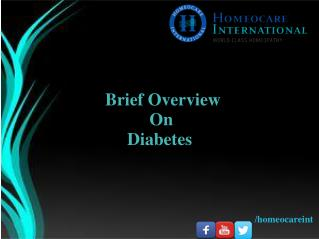 Know the overview of Diabetes treatment