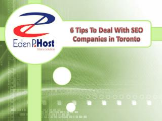 6 Tips To Deal With Seo Companies In Toronto