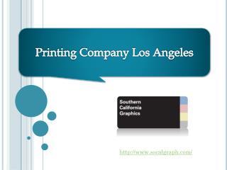 Printing Company Los Angeles