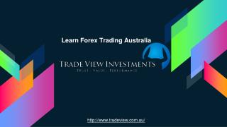Learn to Trade the Market efficiently - Trade View Investments