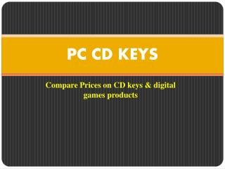 Compare Game CD Key Prices Online
