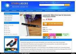 Laserpointer 400mw Grün laser für Astronomie Präsenzlehre HTPOW