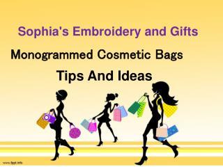 Monogrammed Cosmetic Bags - Sophias embroidery