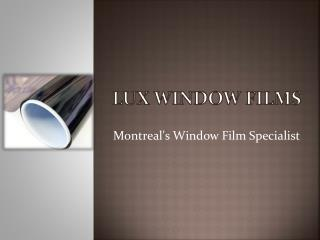 Security Window Film Montreal