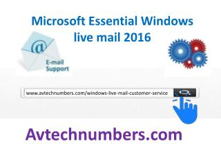 Windows live mail customer service number