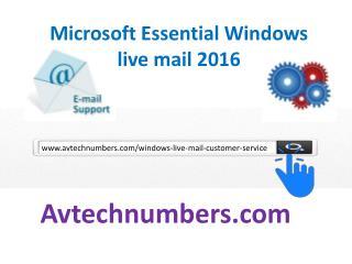 Windows live mail customer service number