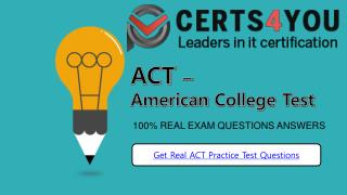 American College Test Practice Test