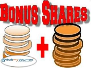 Issue of Bonus Shares under the Companies Act, 2013