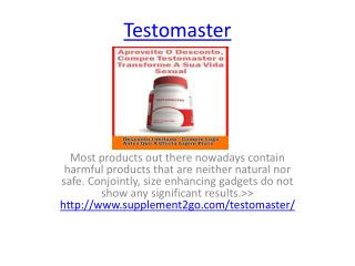 Improve Your Sexual Health With Testomaster