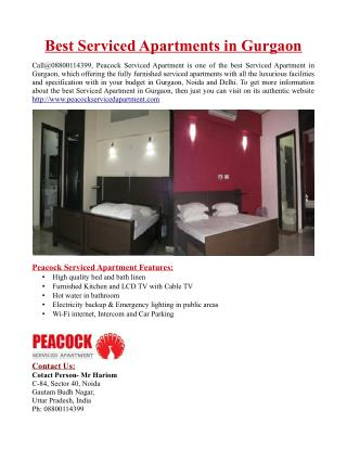 Best Serviced Apartments in Gurgaon