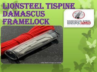 Lionsteel Tispine Damascus Framelock