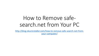 How to Remove safe-search.net from Your PC
