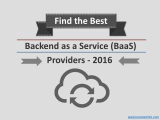 Best Android Backend as a Service (BaaS)