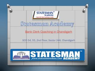 Statesman Academy Bank Clerk Coaching in Chandigarh
