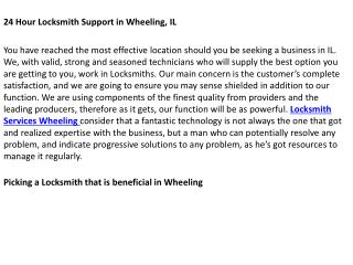 Locksmith Wheeling IL
