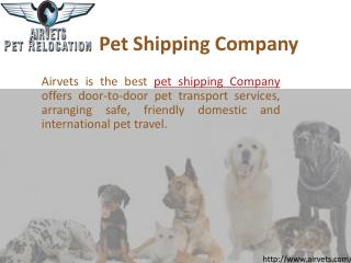 Pet Shipping Company
