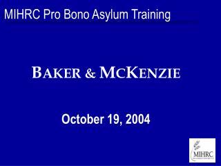 MIHRC Pro Bono Asylum Training