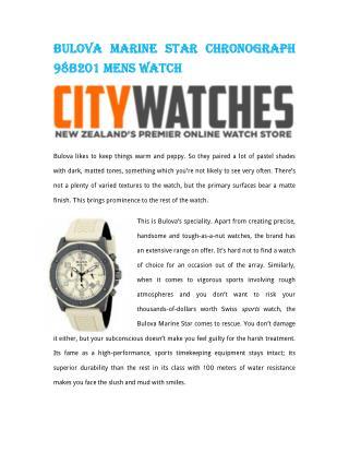 Bulova Marine Star Chronograph 98B201 Mens Watch