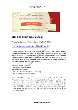 Juniper JN0-696 exam practice test