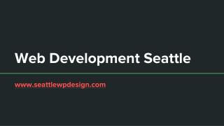 Web Development Seattle