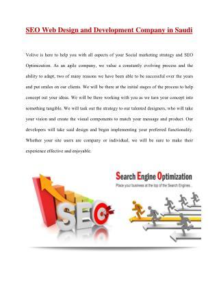 SEO Web Design and Development Company in Saudi