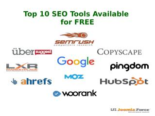 Top 10 SEO Tools Available for free
