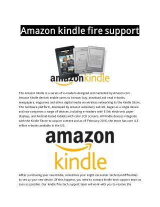 kindle support phone number