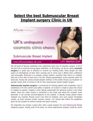 Affordable Breast Implants Surgery in London