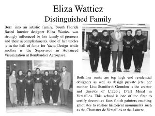 Eliza Wattiez And Her Distinguished Family
