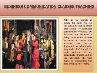 Business Communication Classes teaching