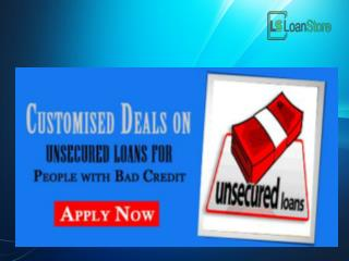 Unsecured Loans for People with Bad Credit - Direct Lenders