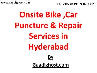 mobile bike Puncture Services in hyderabad | Mobile Bike Repair in Hyderabad